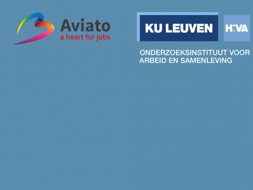 Logo's Aviato en HIVA in het Nederlands